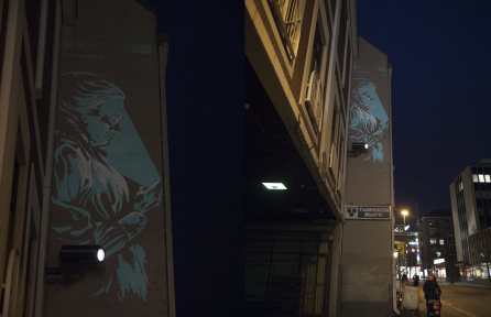 Projecting Minna in Tampere